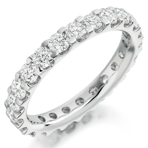 Ring - Round brilliant cut diamond micro claw set full eternity ring, 2.00ct  - PA Jewellery