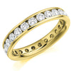 Ring - Round brilliant cut diamond channel set full eternity ring, 2.00ct  - PA Jewellery
