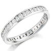 Ring - Round brilliant and baguette cut diamond channel set full eternity ring, 1.15ct  - PA Jewellery