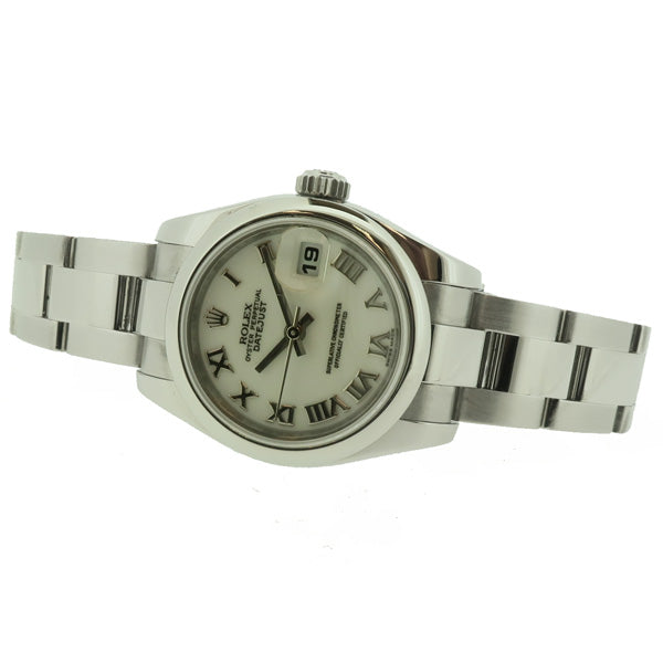 Ladies' Rolex Oyster Perpetual Datejust in stainless steel 179160