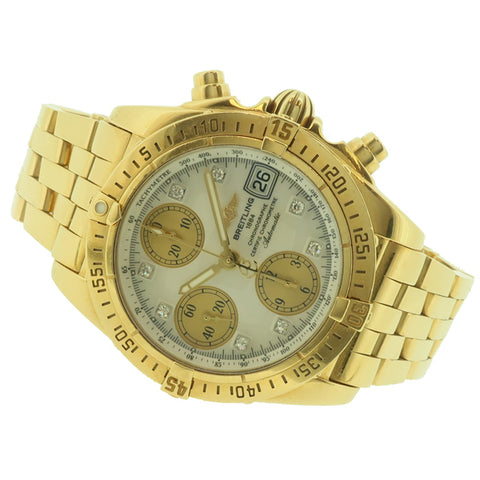 Breitling Windrider Chrono Cockpit in 18ct yellow gold K13357