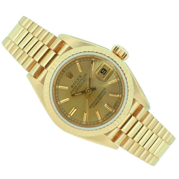 Ladies' Rolex Oyster Perpetual Datejust in 18ct yellow gold 69178