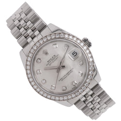 Mid-size Rolex Oyster Perpetual Datejust in stainless steel 178384
