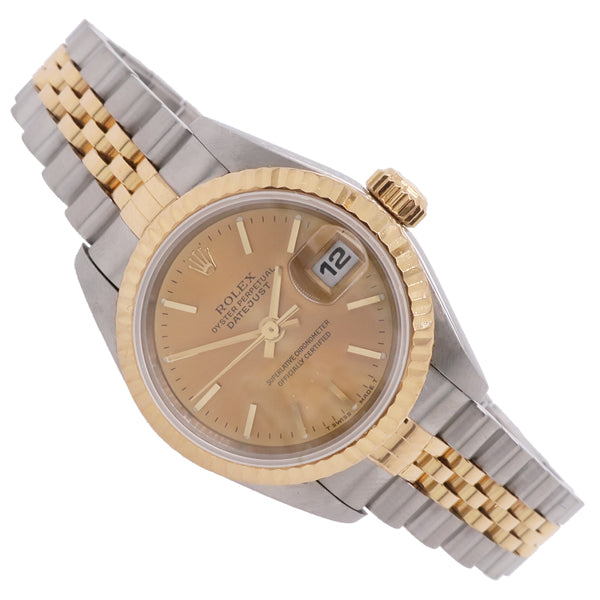 Ladies' Rolex Oyster Perpetual Datejust in stainless steel and 18ct yellow gold 69173