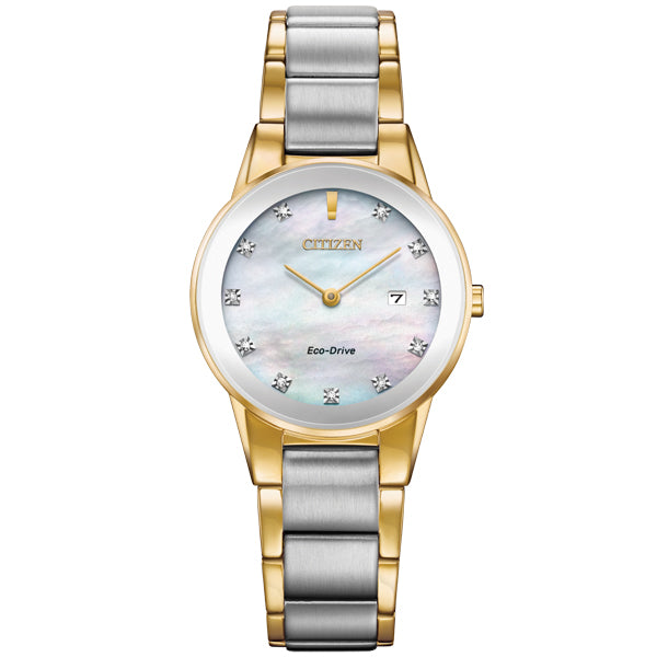 Ladies' Citizen Axiom in two tone stainless steel GA1054-50D