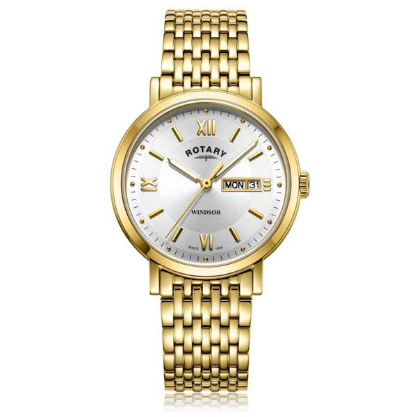 Men's Rotary Windsor in yellow PVD plated stainless steel GB05303/09