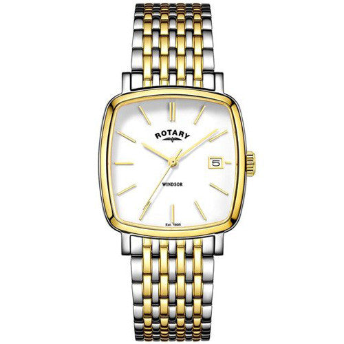 Watch - Men's Rotary Windsor in two tone stainless steel GB05306/01  - PA Jewellery