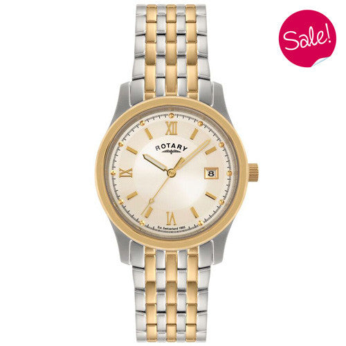 Watch - Men's Rotary in two tone stainless steel GBI0793/09  - PA Jewellery