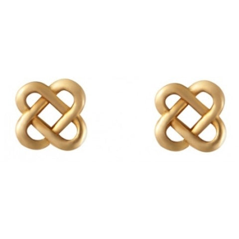 Celtic knot stud earrings in 9ct gold