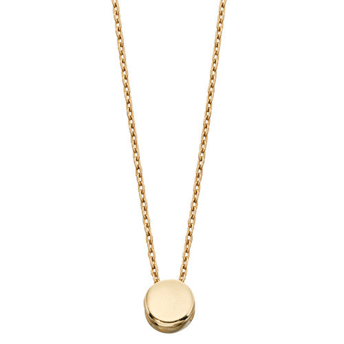 Round necklace in 9ct gold