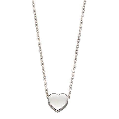 Heart necklace in 9ct white gold