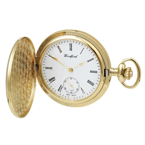 Watch - Pocket watch with Albert chain in yellow gold plated metal model 1069  - PA Jewellery