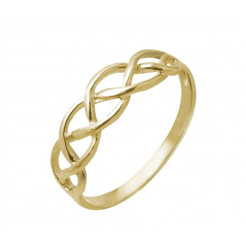 Braided openwork dress ring in 9ct gold