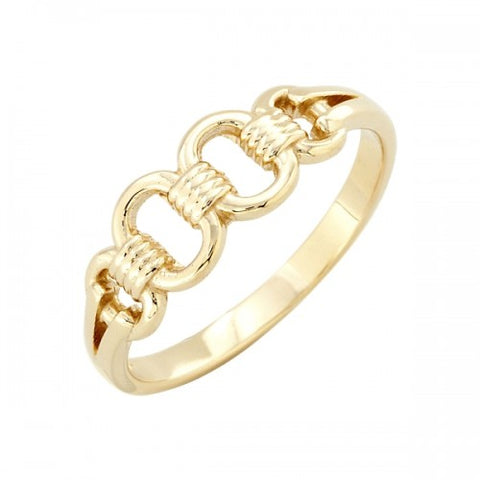 Chain design dress ring in 9ct yellow gold