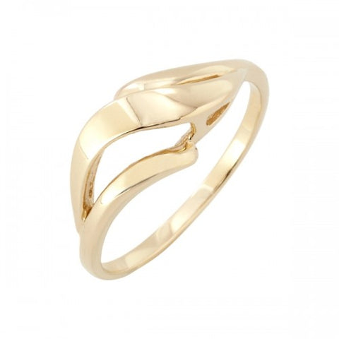Wave design dress ring in 9ct yellow gold