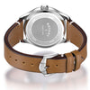 Men's Rotary Oxford in stainless steel on leather GS05092/02