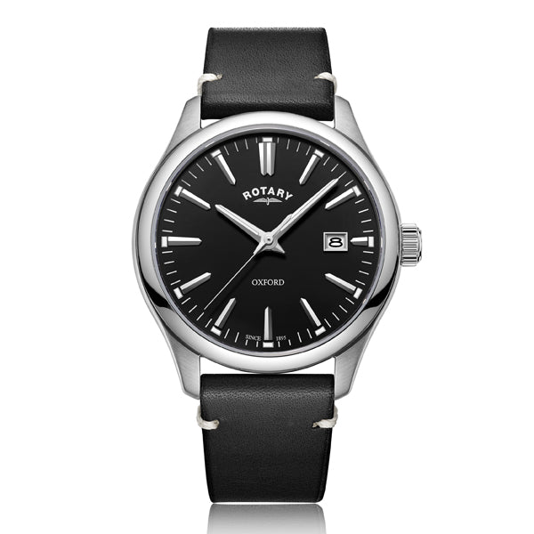 Men's Rotary Oxford in stainless steel on leather GS05092/04
