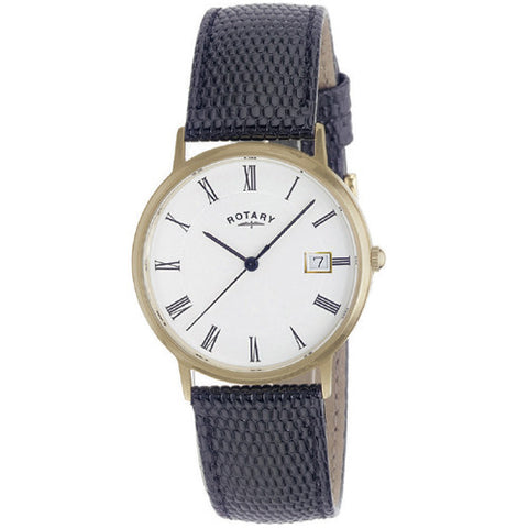 Watch - Men's Rotary in 9ct yellow gold on leather GSI11476/01  - PA Jewellery