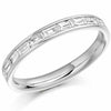 Ring - Baguette cut diamond channel set half eternity ring, 0.50ct  - PA Jewellery