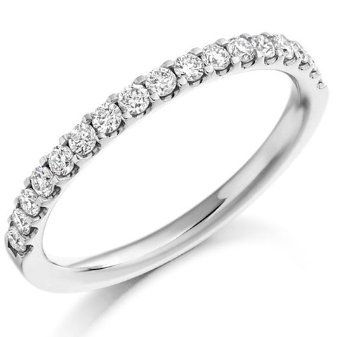 Ring - Round brilliant cut diamond micro claw set half eternity ring, 0.33ct  - PA Jewellery