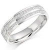 Ring - Princess cut diamond channel set half eternity ring, 0.75ct  - PA Jewellery