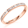 Ring - Round brilliant and baguette cut diamond channel set half eternity ring, 0.30ct  - PA Jewellery