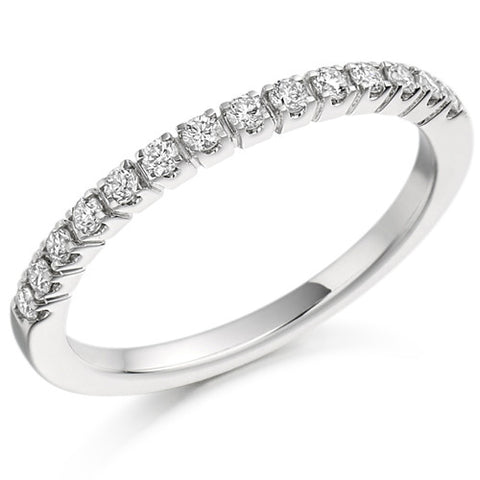 Ring - Brilliant cut diamond half eternity ring, 0.23ct  - PA Jewellery