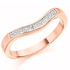 Ring - Princess cut diamond shaped half eternity ring, 0.25ct  - PA Jewellery