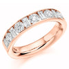 Ring - Round brilliant and baguette cut diamond channel set half eternity ring, 1.50ct  - PA Jewellery