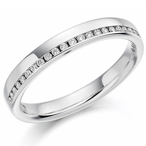 Ring - Round brilliant cut diamond channel set band ring, 0.12ct  - PA Jewellery