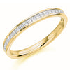 Ring - Princess cut diamond channel set half eternity ring, 0.33ct  - PA Jewellery