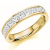 Ring - Princess cut diamond channel set half eternity ring, 1.50ct  - PA Jewellery