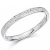 Ring - Princess cut diamond channel set half eternity ring, 0.20ct  - PA Jewellery