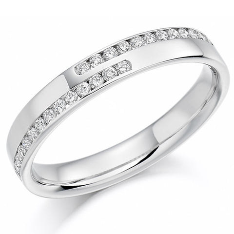 Ring - Asymetrical diamond set band ring, 0.25ct  - PA Jewellery
