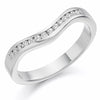 Ring - Diamond set shaped band ring, 0.16ct  - PA Jewellery