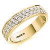 Ring - Round brilliant cut diamond double row half eternity ring 0.75ct  - PA Jewellery
