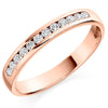 Ring - Round brilliant cut diamond channel set half eternity ring, 0.25ct  - PA Jewellery