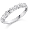 Ring - Round brilliant cut diamond bar set half eternity ring, 0.75ct  - PA Jewellery