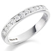 Ring - Round brilliant cut diamond channel set half eternity ring, 0.50ct  - PA Jewellery