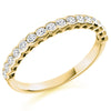 Ring - Round brilliant cut diamond half eternity ring, 0.50ct  - PA Jewellery
