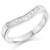 Ring - Baguette cut diamond curved half eternity ring, 0.20ct  - PA Jewellery