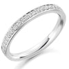 Ring - Grain set diamond half eternity ring, 0.25ct  - PA Jewellery