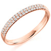 Ring - Round brilliant cut diamond double row half eternity ring, 0.25ct  - PA Jewellery