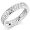 Ring - Princess cut diamond channel set half eternity ring, 2.00ct  - PA Jewellery