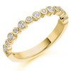 Ring - Round brilliant cut diamond half eternity ring, 0.30ct  - PA Jewellery