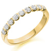 Ring - Round brilliant cut diamond bar set half eternity ring, 0.50ct  - PA Jewellery