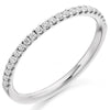 Ring - Round brilliant cut diamond micro claw set half eternity ring, 0.25ct  - PA Jewellery
