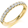 Ring - Round brilliant cut diamond micro claw set half eternity ring, 0.75ct  - PA Jewellery