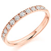 Ring - Grain set diamond half eternity ring, 0.40ct  - PA Jewellery