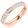 Ring - Princess cut diamond channel set half eternity ring, 1.00ct  - PA Jewellery